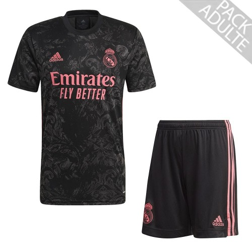 PACK REAL MADRID THIRD. ENSEMBLE ADULTE MAILLOT ET SHORT 2020-2021