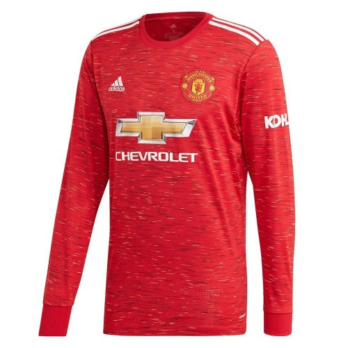 MAILLOT MANCHESTER UNITED DOMICILE MANCHES LONGUES 2020-2021
